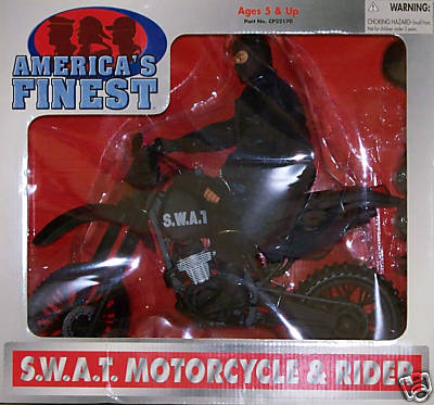21st Century America's Finest S.W.A.T. Motorcycle & Rider