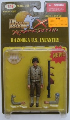 21st Century Ultimate Soldier Extreme Detail 1:18 Series 1 Bazooka U.S. Infantry