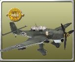 1:18 Scale WWII Junkers (Stuka Dive Bomber, Grey) with Pilot Non Mint!